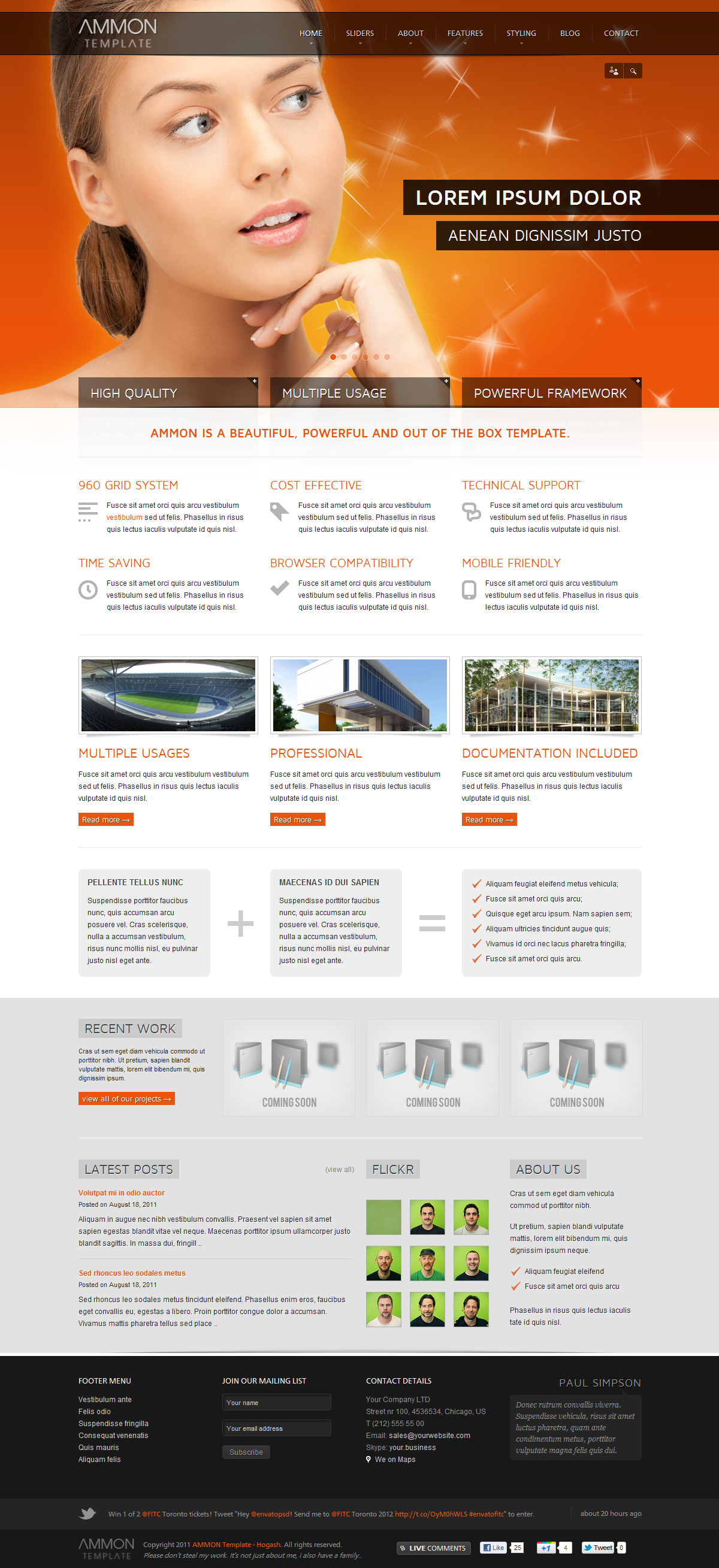 Ammon - Template for Joomla - GENERAL PAGE - HOMEPAGE - FULL SLIDER 1