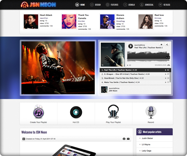 Top 10 free joomla 3 0 templates 2013 blogoftheworld for Free joomla template creator software