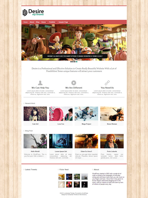 Desire WordPress Theme