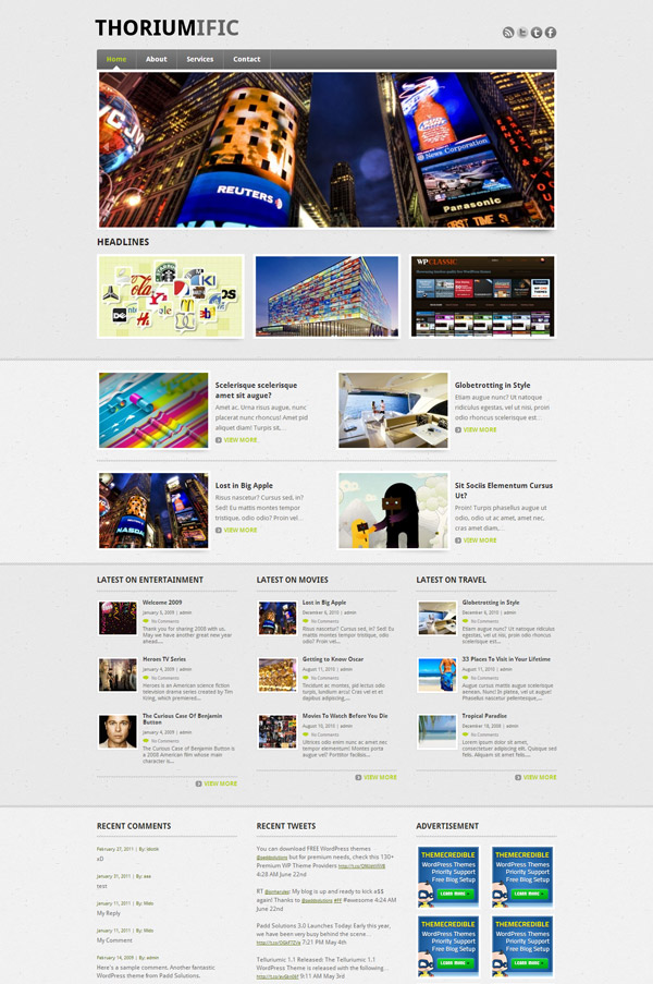 Thoriumific WordPress Theme