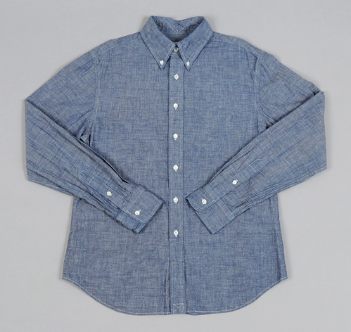 A chambray button down