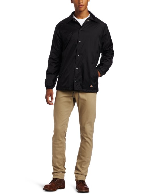 Dickies Men's Snap Front Nylon Jacket