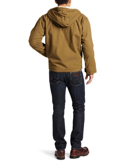 Dickies Men's Big-Tall Sanded Sherpa Lined Hooded Jacket