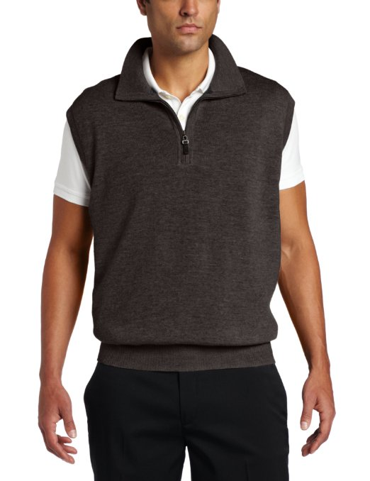 Fairway & Greene Men's Merino 1/4 Zip Wind Vest