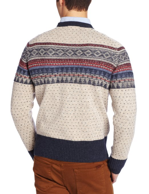 GANT by Michael Bastian Men's Fairisle Crew Sweater