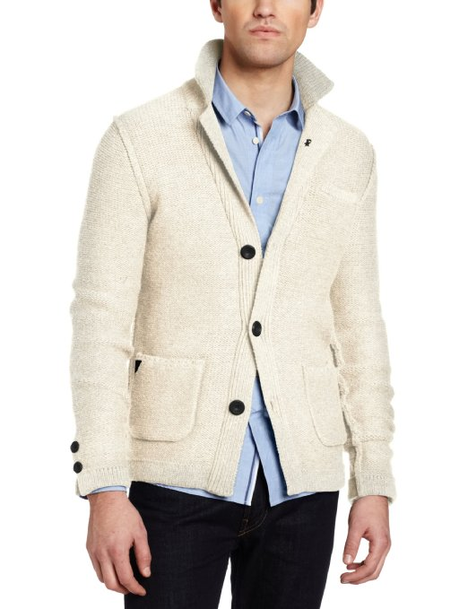J.C. Rags Men's Reversed Cable Blazer