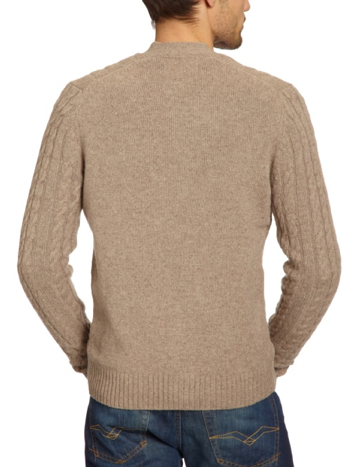 Ben Sherman Men's Cable Cardigan Sweater