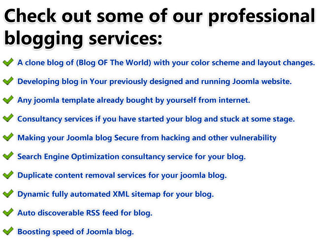 key points of joomla