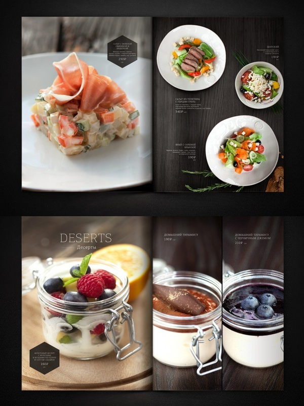 Professionally designed gorgeous and corporate hotel menus