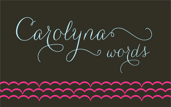 Carolyna Words Font by Emily Lime Design