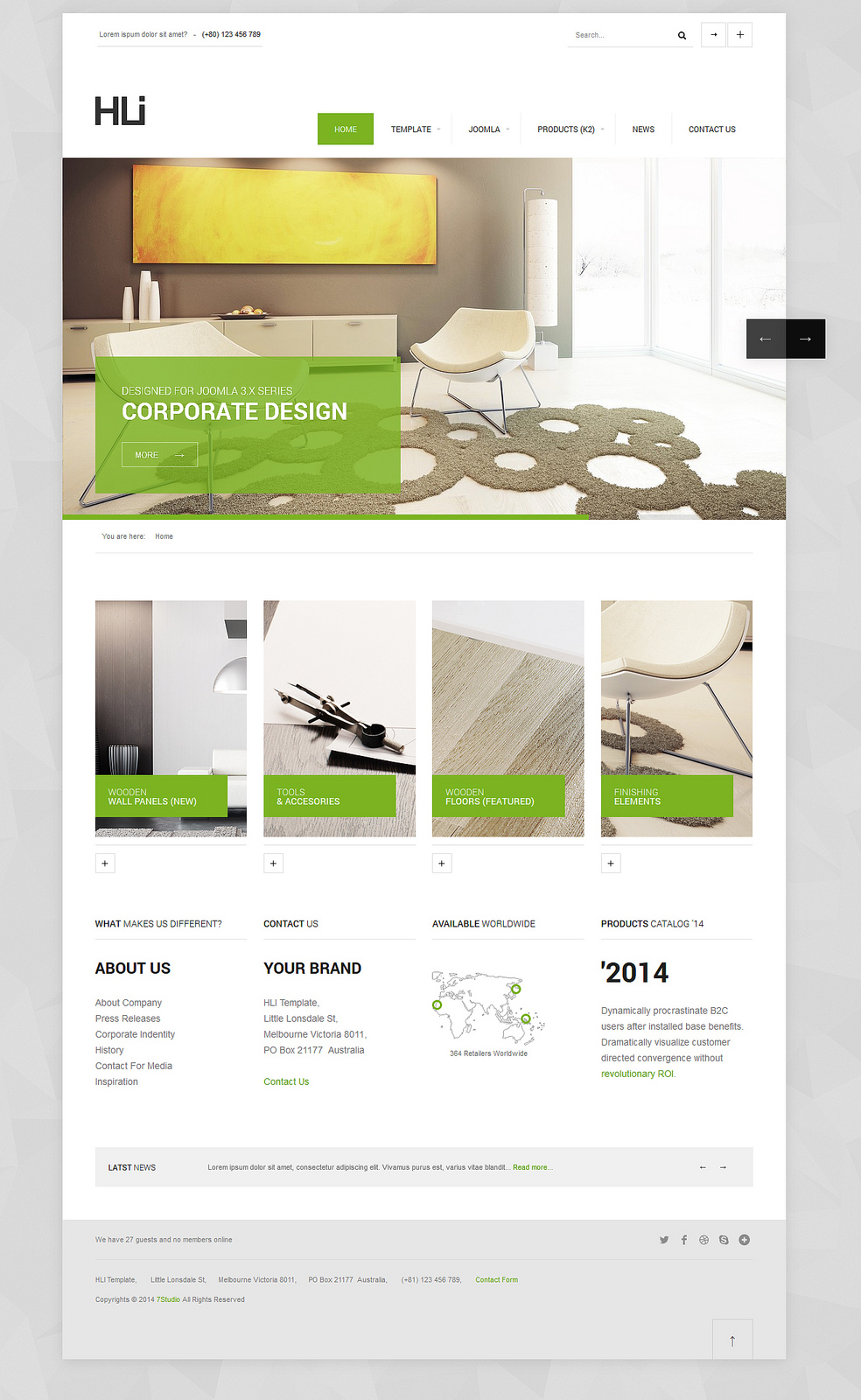 HLI, Responsive Corporate Joomla! Template