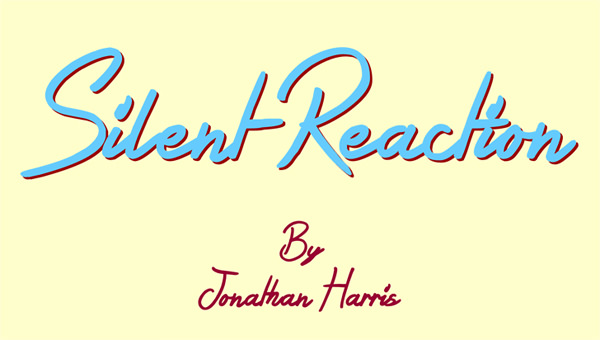 Silent Reaction Font by Jonathan S. Harris