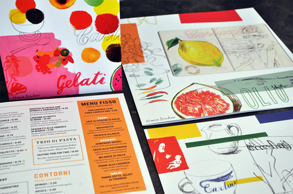 Carluccio's Menus by Irving & Co