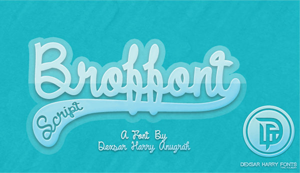 DHF Broffont Script Font by Dexsar Harry Anugrah