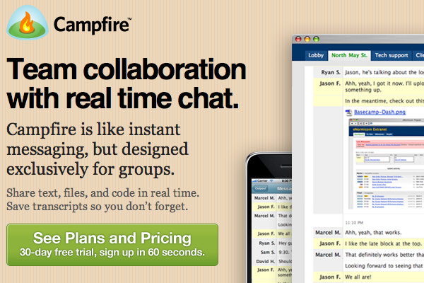 campfire team collaboration chat application