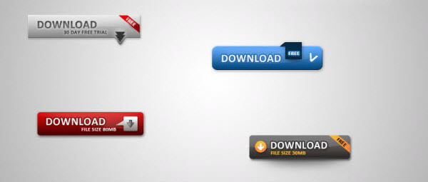 clean download buttons pack