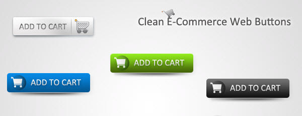 clean ecommerce web buttons