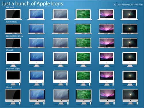 Just a bunch of Apple Icons by g-f