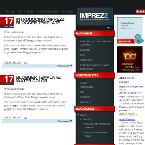 Introducing Imprezz Blogger Template