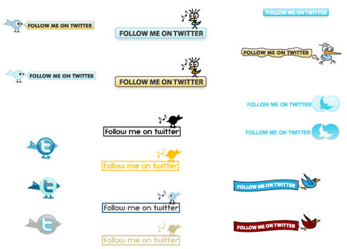 30 Free Vector Twitter Buttons Download