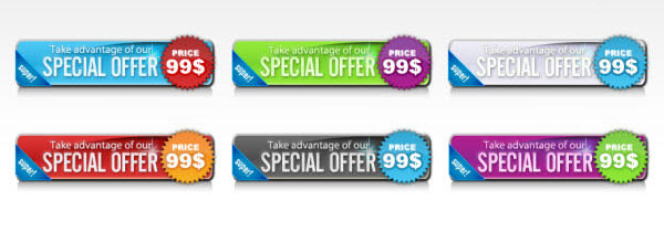 special offer buttons web20
