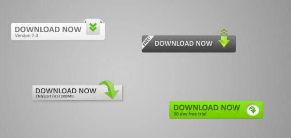web20 download buttons