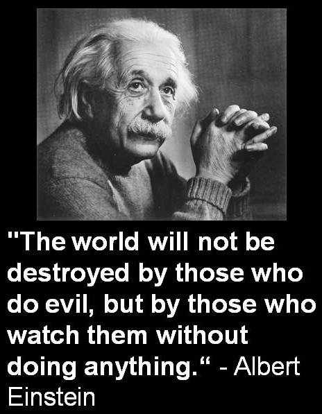 Albert Einstein Save The World Quote