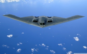 B2 Flying Over The Pacific Ocean Wallpape