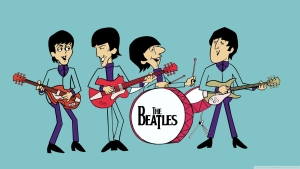 Cartoonic THe Beatles Wallpaper
