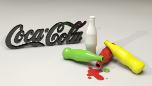 Cocal Cola 3D Logo Wallpaper