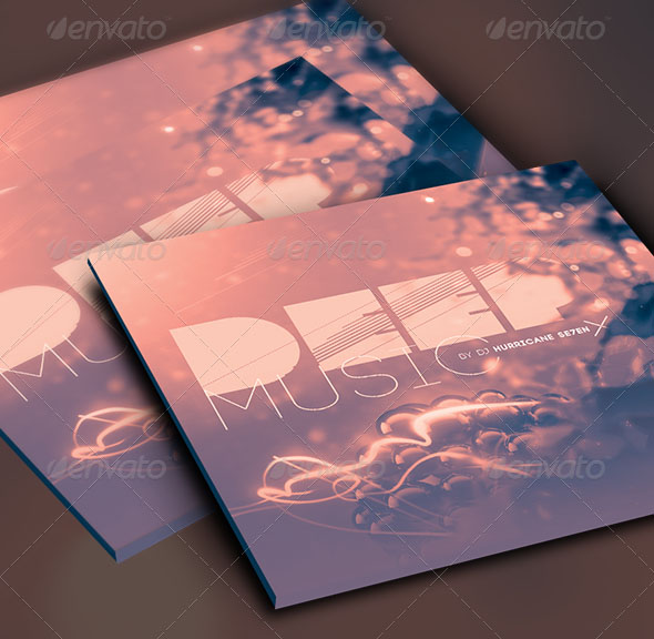 Deep Music CD Cover Artwork Template