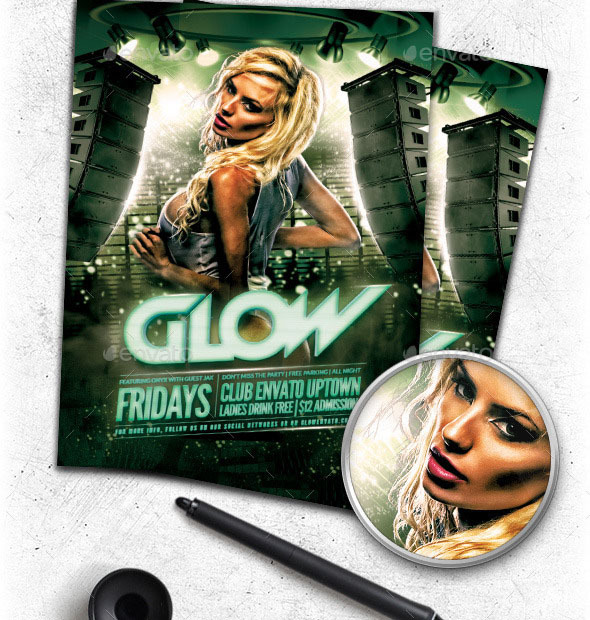 Glow Club Flyer Template