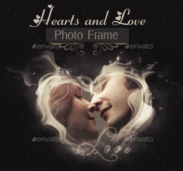 Hearts and Love Photo Frame