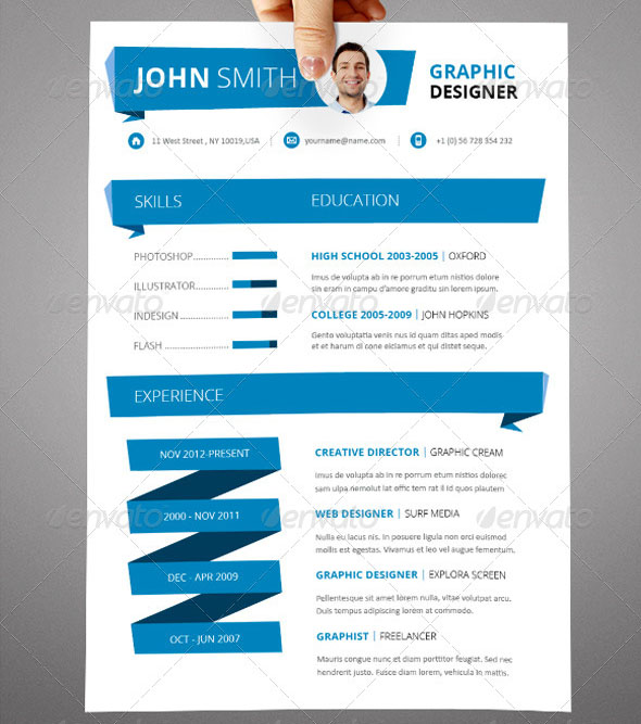 indesign resume template a4 letter size