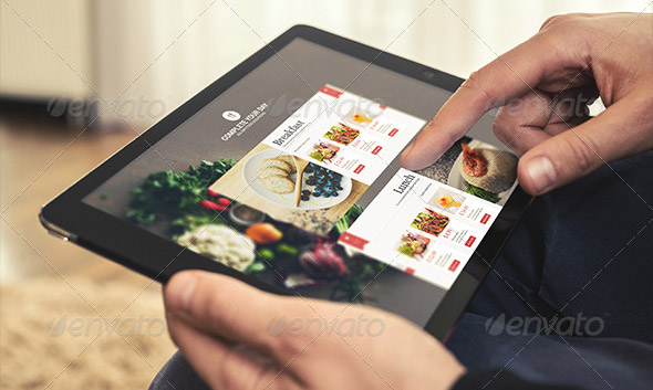 Photorealistic Tablet Mock-Up