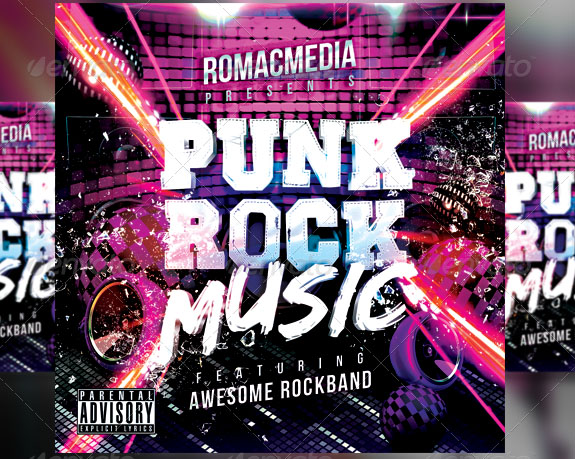 Punk Rock Music CD Cover