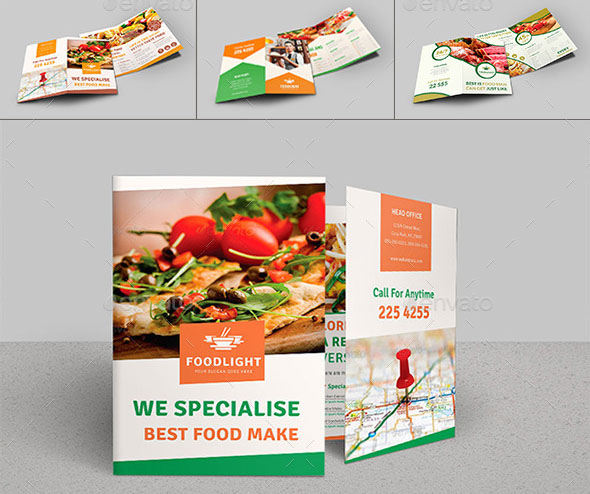 Restaurant Business Bi-Fold Brochure v4