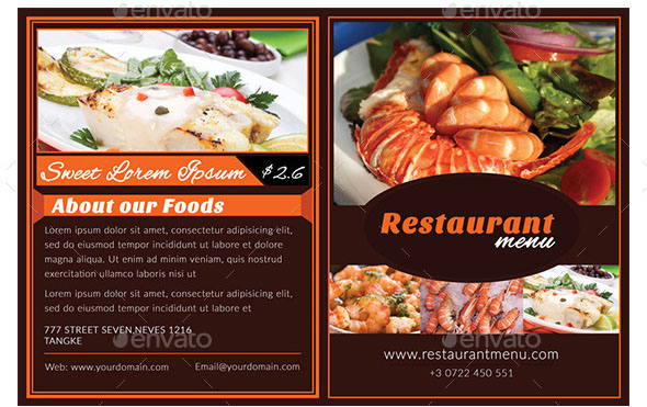 Restaurant Menu Brochure