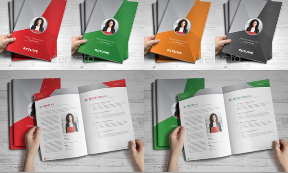 resume booklet template best of 24 cool indesign resume templates blogoftheworld