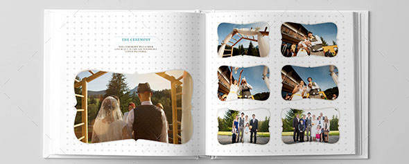Square Wedding Photo Album Indesign Template