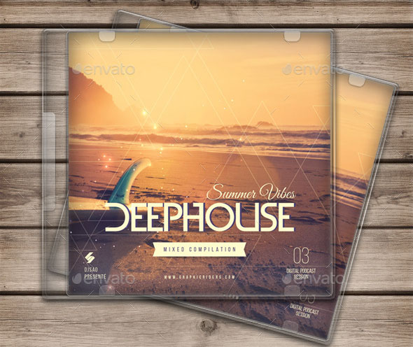 Summer Vibes 3 House Music CD Cover Template