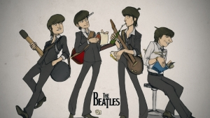 The Beatles Cartoon Wallpaper