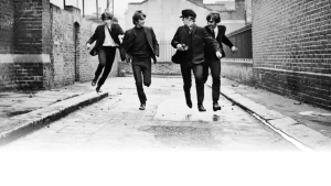 The Beatles Running Wallpaper