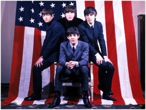 The Beatles With America Wallpaper