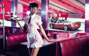 Women of Coca Cola Wallpaper