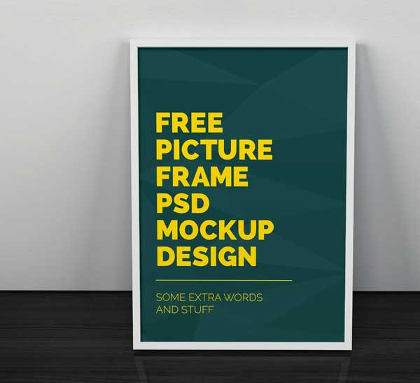 free psd framed posters mock up