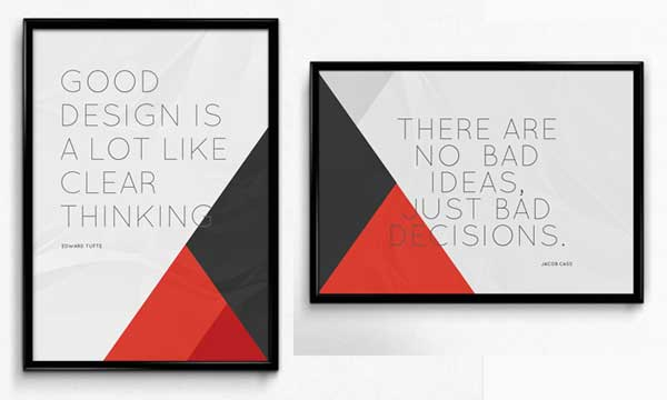 free framed psd posters mock up