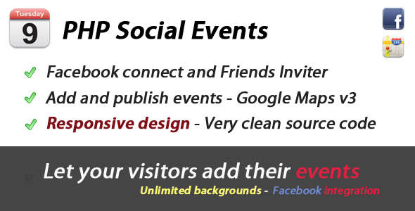 Eventoo PHP Social Events
