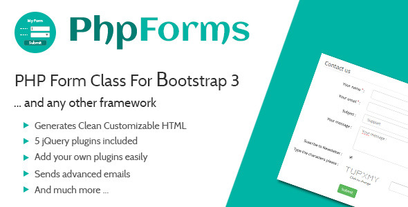 PHP Form Class For Bootstrap 3