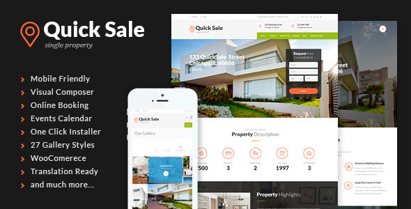 Quick Sale Single Property Real Estate Theme